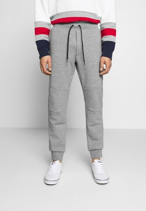 DOUBLE TECH - Tracksuit bottoms - battalion heather