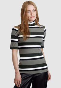 Laura Kent - Print T-shirt - schilf dunkelgrün - 0
