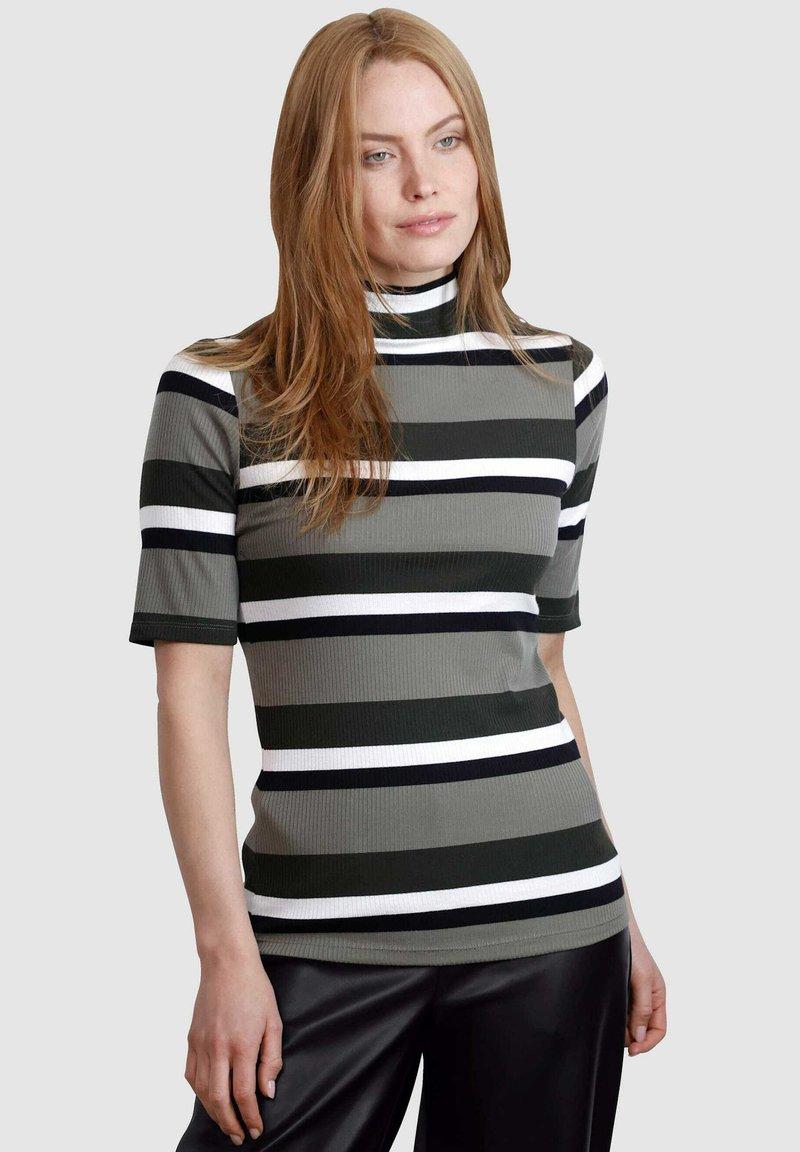 Laura Kent - Print T-shirt - schilf dunkelgrün