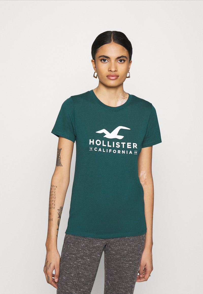Hollister Co. - T-shirts med print - green