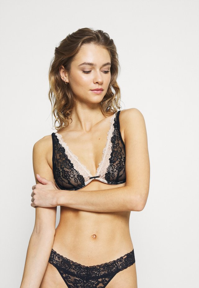 LOVELY REVIVAL BRA - Triangel BH - black/champagne