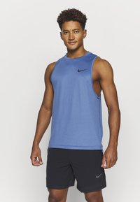 Nike Performance - TANK DRY - Camiseta de deporte - mystic navy/stone blue/heather/black - 1