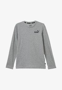 Puma - LOGO LONGSLEEVE  - Long sleeved top - medium grey heather - 3