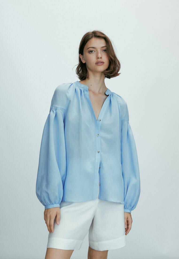 Massimo Dutti - Blouse - blue