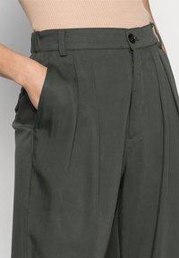 InWear - IZLA PANTS - Trousers - green olive - 4