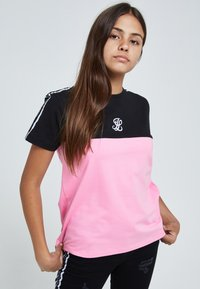 Illusive London Juniors - T-shirt print - black & pink - 1