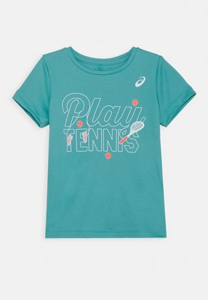 TENNIS KIDS - Camiseta estampada - techno cyan