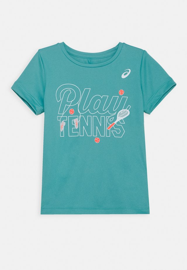TENNIS KIDS - Print T-shirt - techno cyan