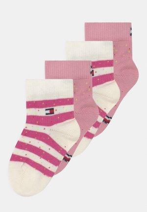 SEASONAL BRETON STRIPE NEPPY 4 PACK UNISEX - Sokken - pink