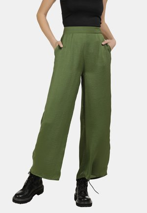 DREIMASTER SATIN CULOTTE HOSE - Trousers - olive