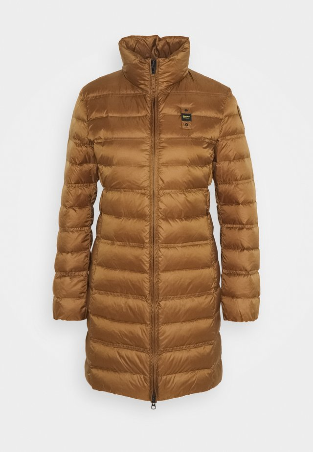 IMPERMEABILE LUNGHI IMBOTTITO - Down coat - brown