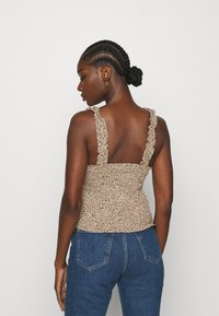 Abercrombie & Fitch - SMOCK WAIST CAMI - Blouse - brown - 2