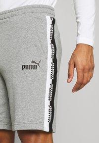 Puma - AMPLIFIED SHORTS - Träningsshorts - medium gray heather - 3