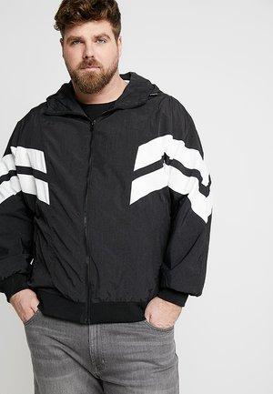 CRINKLE PANEL TRACK JACKET - Summer jacket - black/white