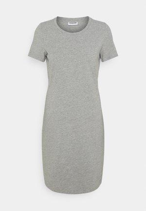 NMSIMMA DRESS - Fodralklänning - light grey melange/solid