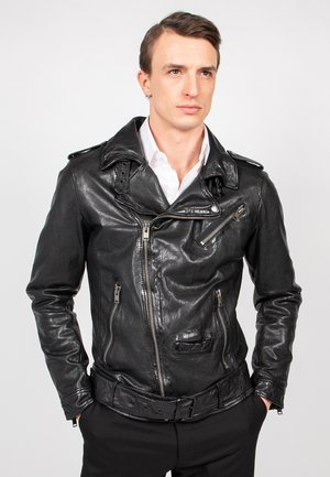 HOUSTON CITY - Leather jacket - black