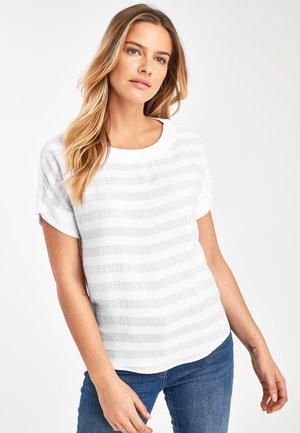 STRIPE - Print T-shirt - white