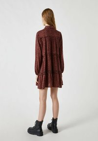 PULL&BEAR - Shirt dress - mottled brown - 2