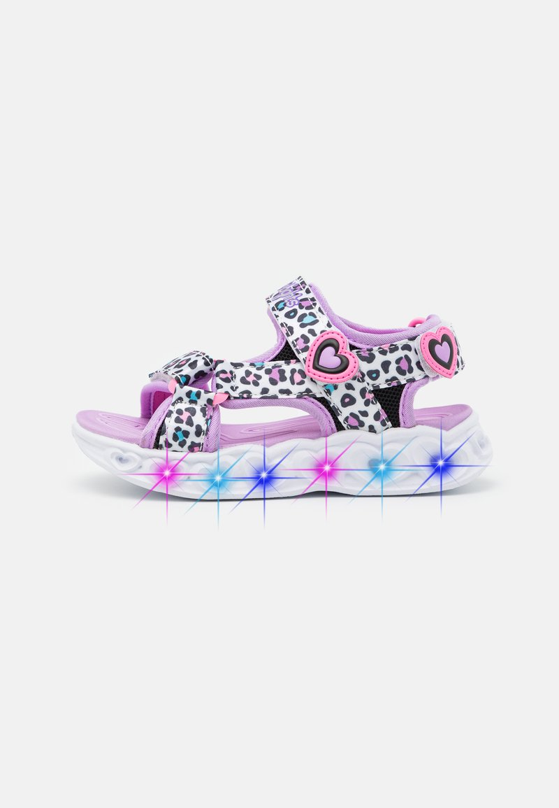 Skechers - HEART LIGHTS - Sandals - white/multicolor
