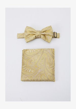 PAISLEY BOWTIE AND HANKIE SET - Pochet - yellow