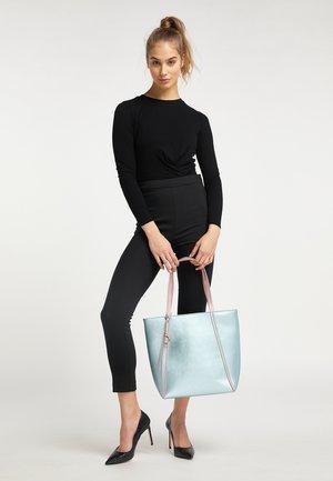 Tote bag - blue metallic