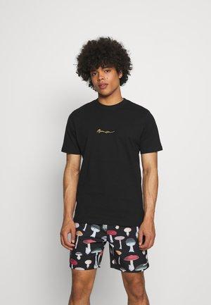 ESSENTIAL REGULAR BASIC TEE UNISEX - Basic T-shirt - black
