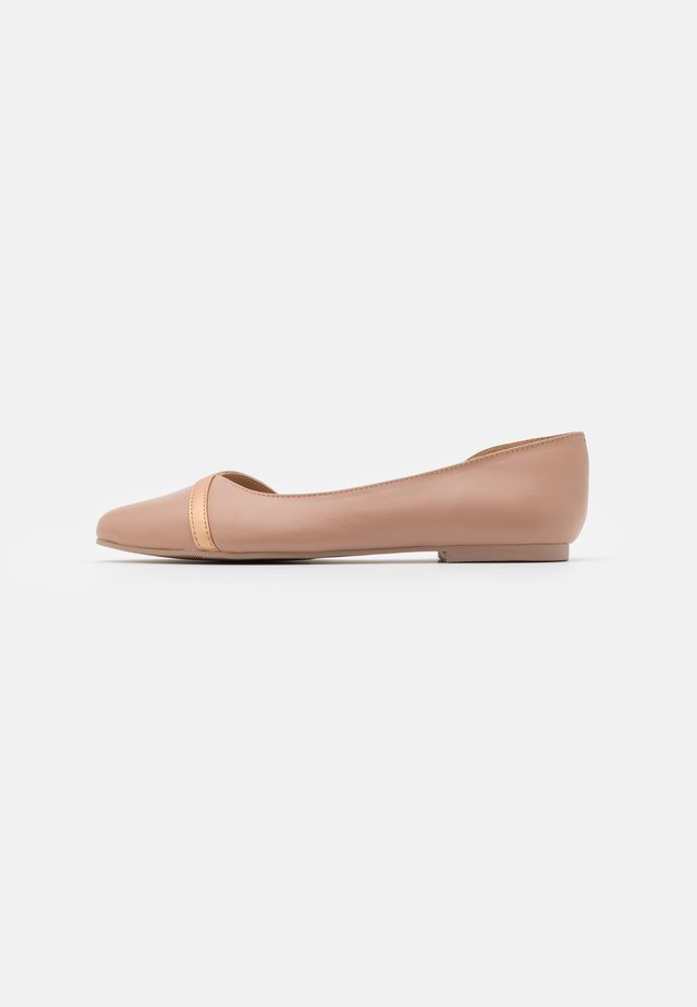 LEATHER  - Ballet pumps - nude