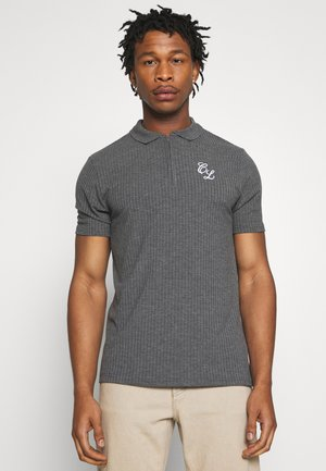 TONAL ZIP TEE - Polo shirt - charcoal