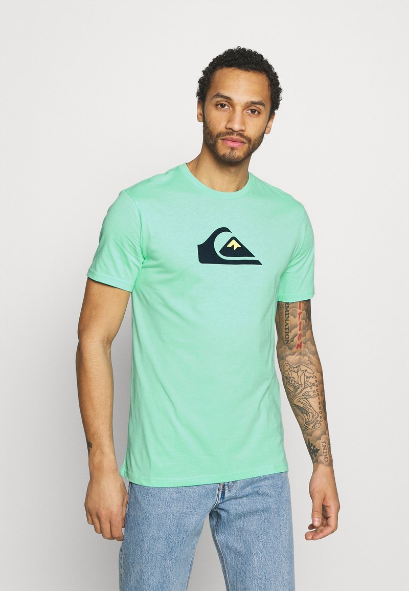 Quiksilver - COMP LOGO  - T-shirt con stampa - cabbage