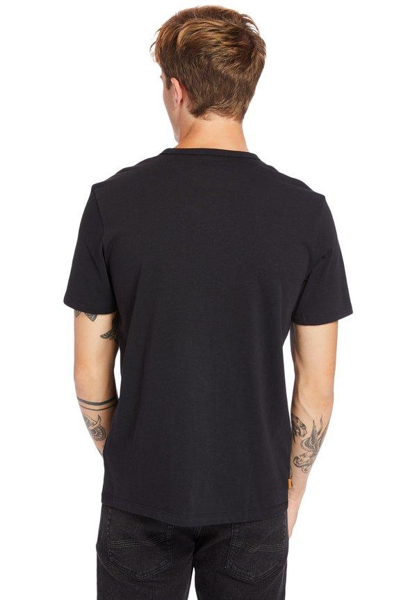 Timberland T-shirt z nadrukiem - black-wheat boot/jasnobrązowy Odzież Męska YHLZ