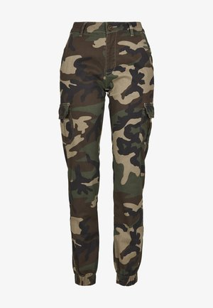 Cargo trousers - woodcamo
