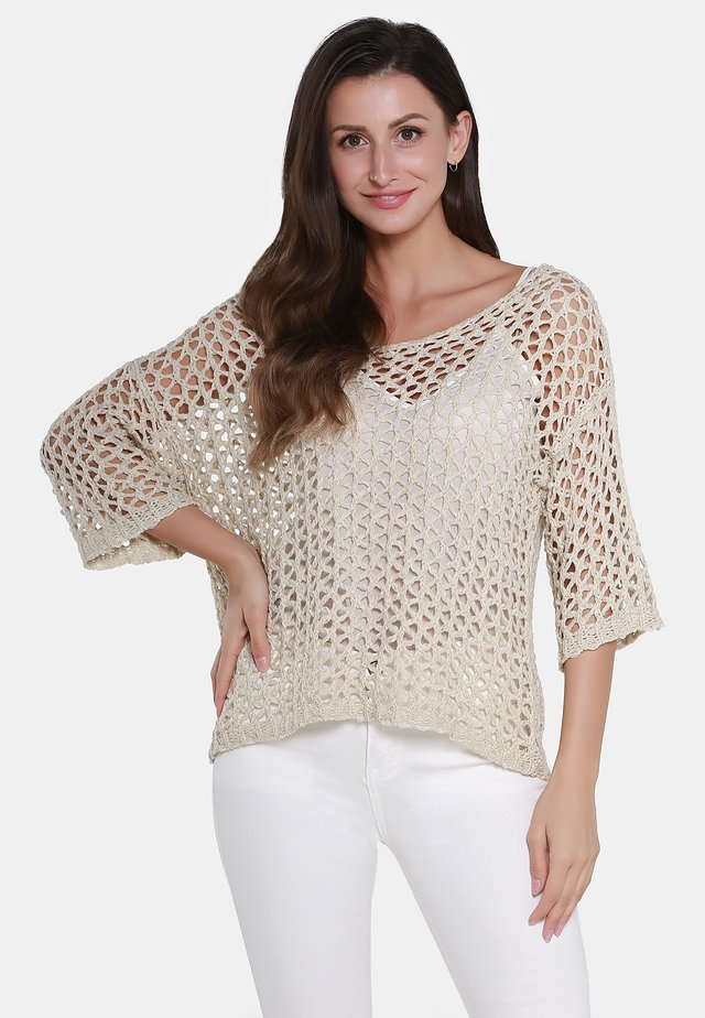 PULLOVER - Neule - beige