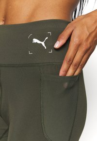 Puma - NU-TILITY HIGH WAIST 7/8 LEGGINGS - Leggings - forest night - 5
