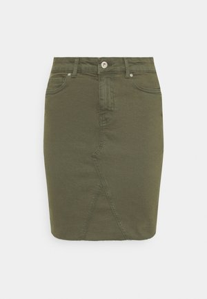 ONLFAN LIFE SKIRT RAW EDGE - Mini skirt - kalamata