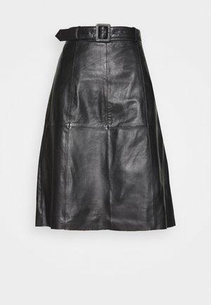 SLFOLLY   - Áčková sukně - black