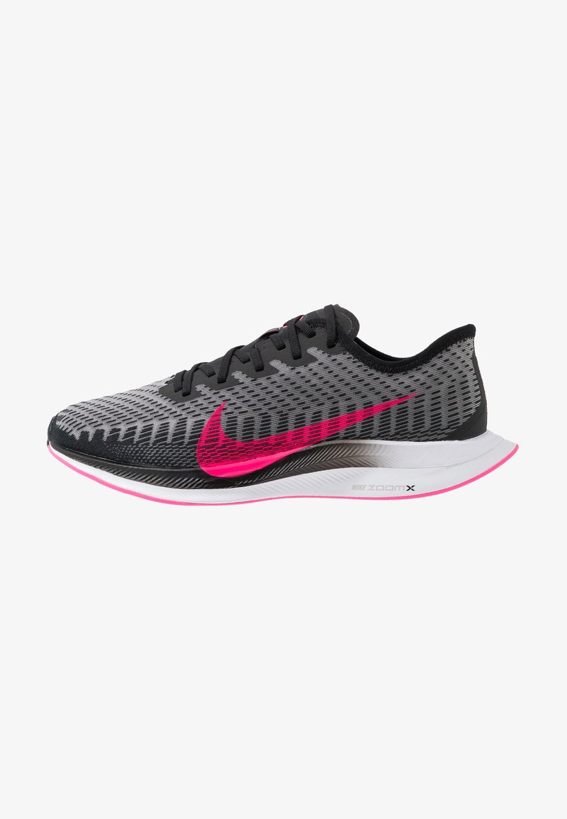 Nike Performance - ZOOM PEGASUS TURBO 2 - Neutrala löparskor - black/pink blast/atmosphere grey/white