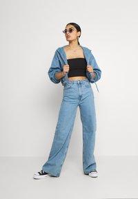 Weekday - MIRIAM ZIP HOODIE - Zip-up sweatshirt - blue - 1
