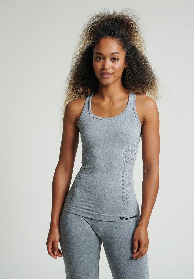 SEAMLESS - Sportshirt - grey melange