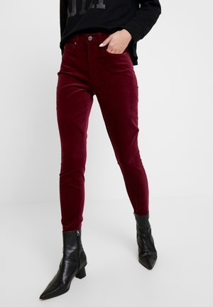 SKINNY ANKLE - Trousers - bell burgundy