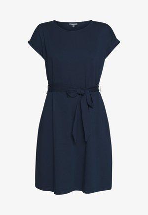 DRESS A-SHAPE BELTED - Day dress - sky captain blue