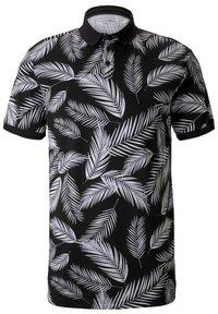 TOM TAILOR DENIM - Poloshirt - black white palm leaves print - 2