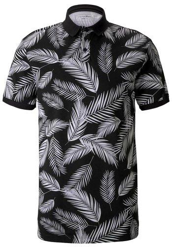 Piké - black white palm leaves print
