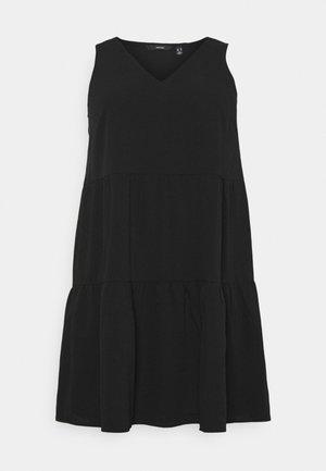 VMOLIVIA PEPLUM DRESS  - Korte jurk - black