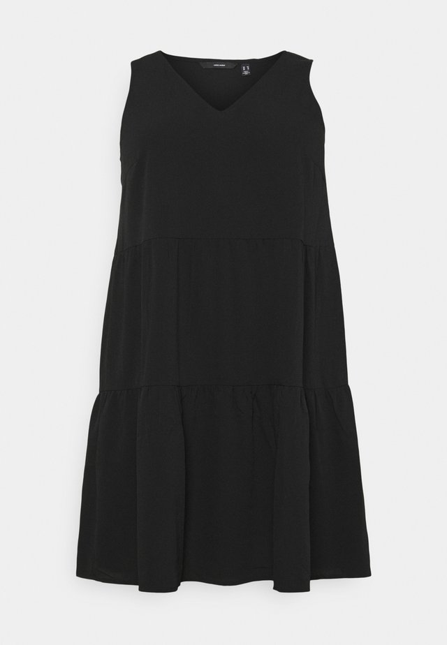 VMOLIVIA PEPLUM DRESS  - Vapaa-ajan mekko - black