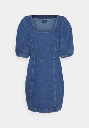 PUFF SLEEVE DRESS - Kjole - dark denim