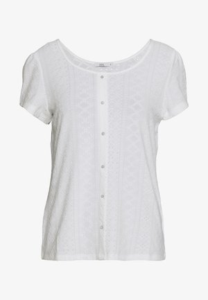 POINTELLE TEE - Print T-shirt - off white