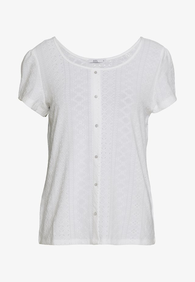 POINTELLE TEE - T-shirt con stampa - off white