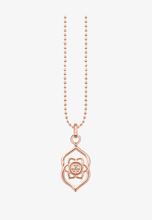 Collier - rosegold-coloured/white