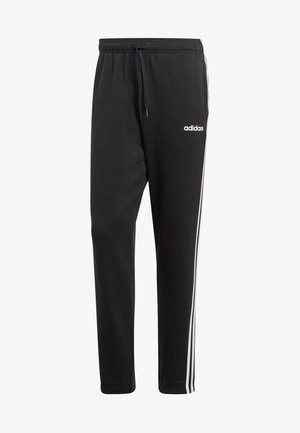 ESSENTIALS 3STRIPES FRENCH TERRY SPORT PANTS - Spodnie treningowe - black