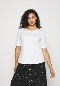 Simply Be - 2 PACK GATHERED TEES - Basic T-shirt - black/white - 3